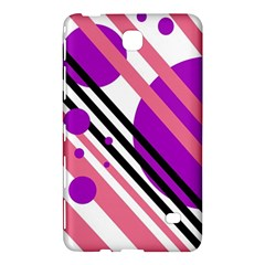 Purple Lines And Circles Samsung Galaxy Tab 4 (8 ) Hardshell Case  by Valentinaart