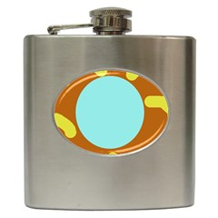 Abstract Sun Hip Flask (6 Oz) by Valentinaart