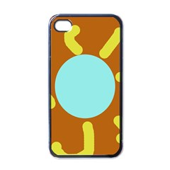 Abstract Sun Apple Iphone 4 Case (black) by Valentinaart