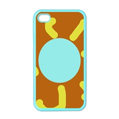 Abstract Sun Apple Iphone 4 Case (color) by Valentinaart