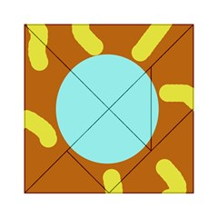 Abstract Sun Acrylic Tangram Puzzle (6  X 6 ) by Valentinaart