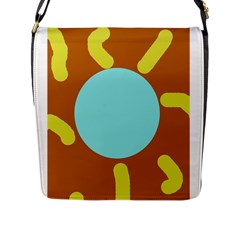 Abstract Sun Flap Messenger Bag (l)  by Valentinaart