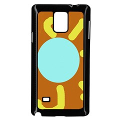Abstract Sun Samsung Galaxy Note 4 Case (black) by Valentinaart