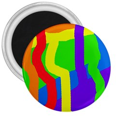 Rainbow Abstraction 3  Magnets by Valentinaart