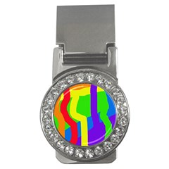 Rainbow Abstraction Money Clips (cz)  by Valentinaart