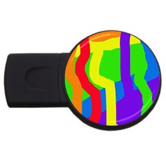Rainbow Abstraction Usb Flash Drive Round (2 Gb)  by Valentinaart