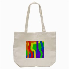 Rainbow Abstraction Tote Bag (cream) by Valentinaart