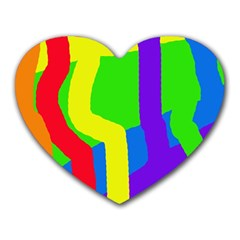 Rainbow Abstraction Heart Mousepads by Valentinaart