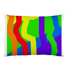 Rainbow Abstraction Pillow Case by Valentinaart