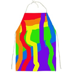 Rainbow Abstraction Full Print Aprons by Valentinaart