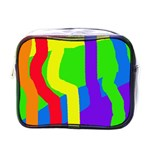 Rainbow abstraction Mini Toiletries Bags Front