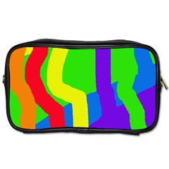 Rainbow Abstraction Toiletries Bags by Valentinaart