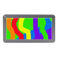 Rainbow Abstraction Memory Card Reader (mini) by Valentinaart