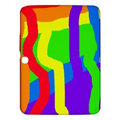 Rainbow Abstraction Samsung Galaxy Tab 3 (10 1 ) P5200 Hardshell Case  by Valentinaart