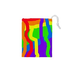 Rainbow Abstraction Drawstring Pouches (xs)  by Valentinaart