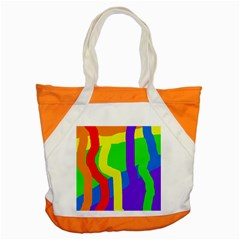 Rainbow Abstraction Accent Tote Bag by Valentinaart