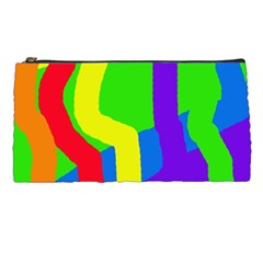 Rainbow Abstraction Pencil Cases by Valentinaart
