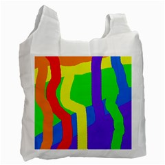 Rainbow Abstraction Recycle Bag (one Side) by Valentinaart