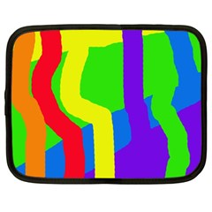 Rainbow Abstraction Netbook Case (xl)  by Valentinaart