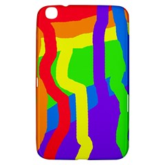 Rainbow Abstraction Samsung Galaxy Tab 3 (8 ) T3100 Hardshell Case  by Valentinaart