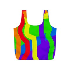 Rainbow Abstraction Full Print Recycle Bags (s)  by Valentinaart