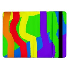 Rainbow Abstraction Samsung Galaxy Tab Pro 12 2  Flip Case by Valentinaart