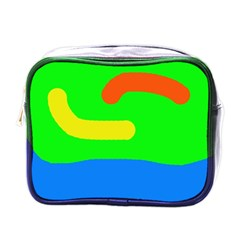 Rainbow Abstraction Mini Toiletries Bags by Valentinaart