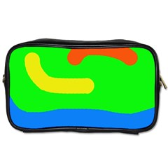 Rainbow Abstraction Toiletries Bags 2 Side by Valentinaart