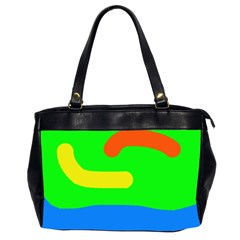 Rainbow Abstraction Office Handbags (2 Sides)  by Valentinaart