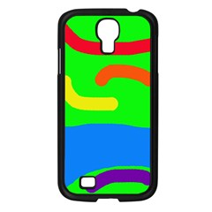 Rainbow Abstraction Samsung Galaxy S4 I9500/ I9505 Case (black) by Valentinaart
