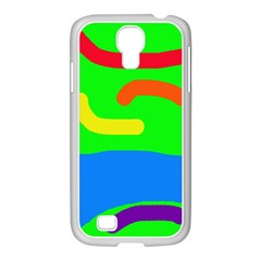 Rainbow Abstraction Samsung Galaxy S4 I9500/ I9505 Case (white) by Valentinaart