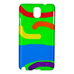 Rainbow Abstraction Samsung Galaxy Note 3 N9005 Hardshell Case by Valentinaart