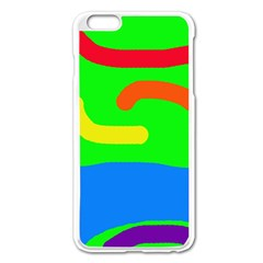 Rainbow Abstraction Apple Iphone 6 Plus/6s Plus Enamel White Case by Valentinaart