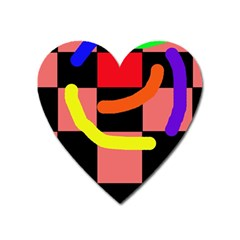 Multicolor Abstraction Heart Magnet by Valentinaart