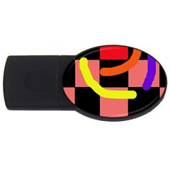 Multicolor Abstraction Usb Flash Drive Oval (2 Gb)  by Valentinaart