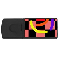 Multicolor Abstraction Usb Flash Drive Rectangular (4 Gb)  by Valentinaart