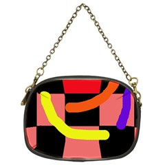 Multicolor Abstraction Chain Purses (one Side)  by Valentinaart