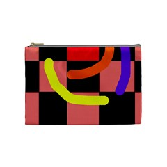 Multicolor Abstraction Cosmetic Bag (medium)  by Valentinaart