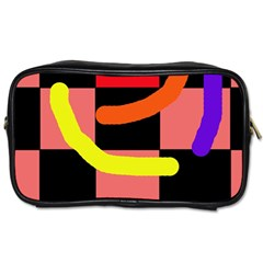 Multicolor Abstraction Toiletries Bags by Valentinaart
