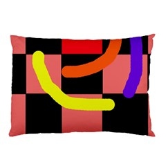 Multicolor Abstraction Pillow Case (two Sides) by Valentinaart