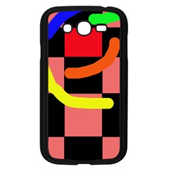Multicolor Abstraction Samsung Galaxy Grand Duos I9082 Case (black) by Valentinaart