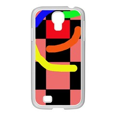 Multicolor Abstraction Samsung Galaxy S4 I9500/ I9505 Case (white) by Valentinaart