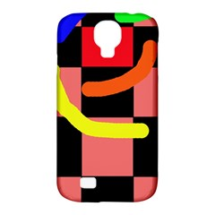 Multicolor Abstraction Samsung Galaxy S4 Classic Hardshell Case (pc+silicone) by Valentinaart