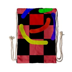 Multicolor Abstraction Drawstring Bag (small) by Valentinaart