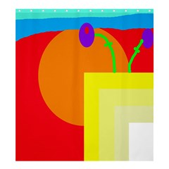 Colorful Abstraction Shower Curtain 66  X 72  (large)  by Valentinaart