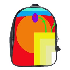 Colorful Abstraction School Bags (xl)  by Valentinaart
