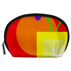Colorful Abstraction Accessory Pouches (large)  by Valentinaart