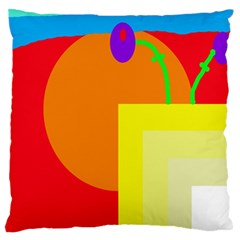 Colorful Abstraction Standard Flano Cushion Case (one Side) by Valentinaart