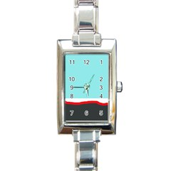 Simple Decorative Design Rectangle Italian Charm Watch by Valentinaart