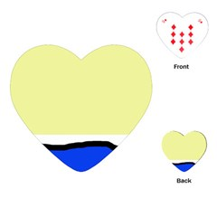 Yellow And Blue Simple Design Playing Cards (heart)  by Valentinaart